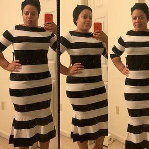 Fit & Flare sweater dress - Medium